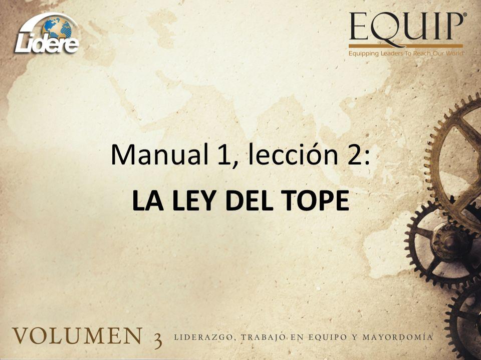 Manual 1, lección 2: LA LEY DEL TOPE