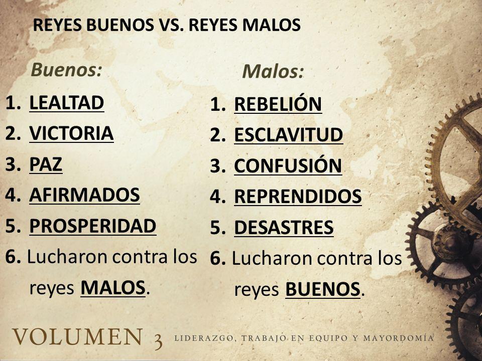 REYES BUENOS VS. REYES MALOS