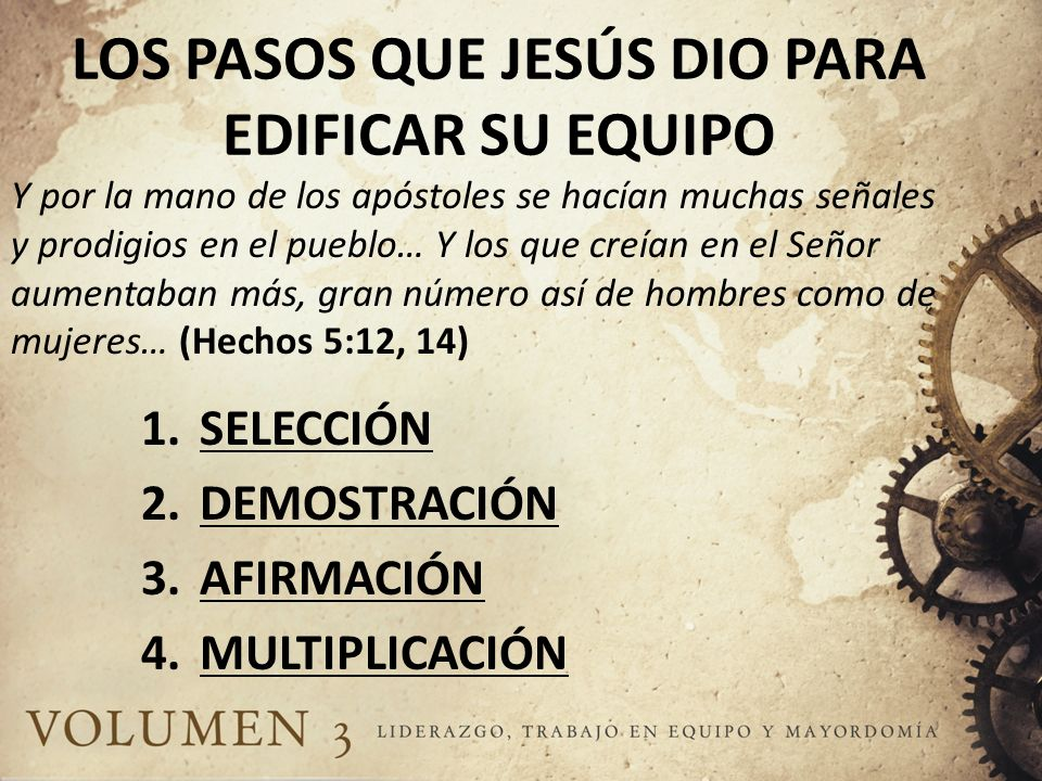 LOS PASOS QUE JESÚS DIO PARA EDIFICAR SU EQUIPO