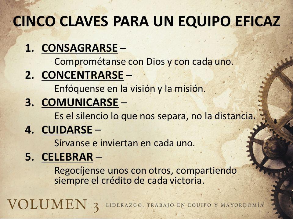 CINCO CLAVES PARA UN EQUIPO EFICAZ