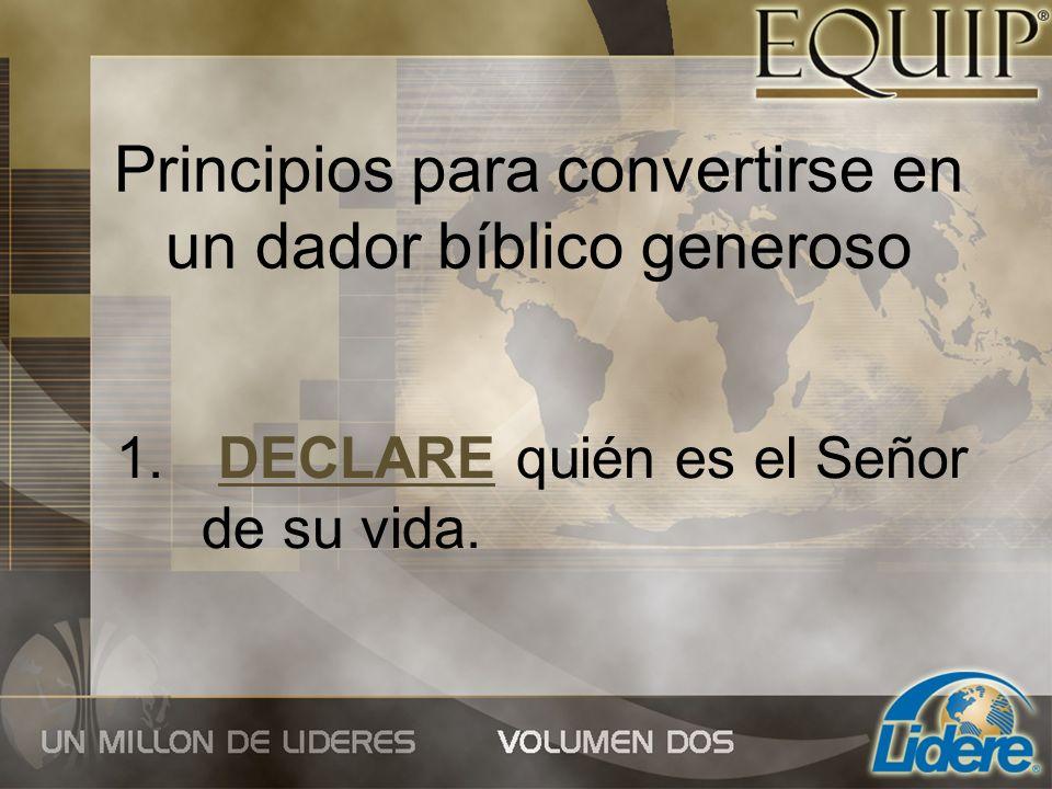 Principios para convertirse en un dador bíblico generoso