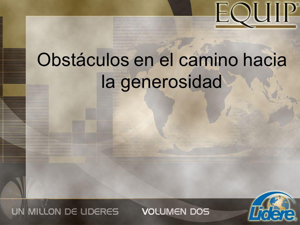 Obstáculos en el camino hacia la generosidad