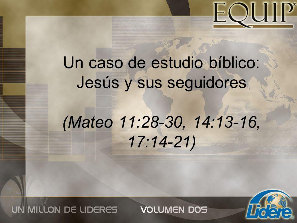 Un caso de estudio bíblico: Jesús y sus seguidores (Mateo 11:28-30, 14:13-16, 17:14-21)
