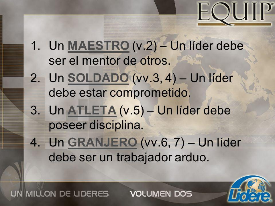 Un MAESTRO (v.2) – Un líder debe ser el mentor de otros.