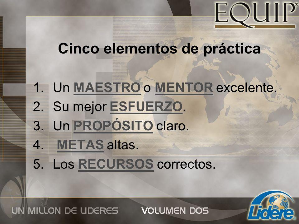 Cinco elementos de práctica