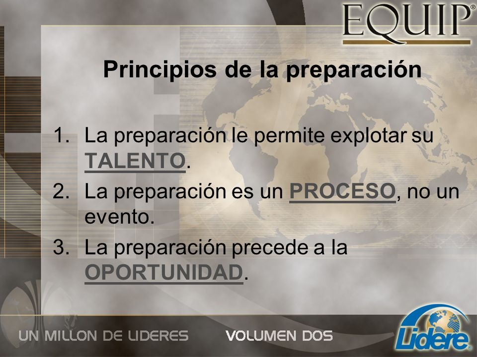 Principios de la preparación