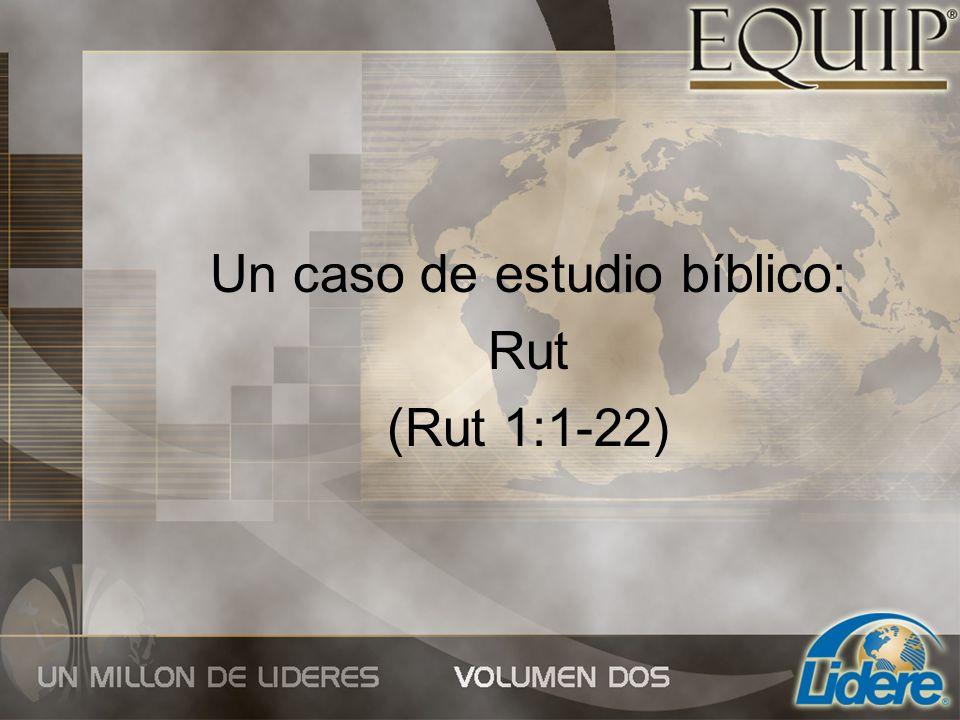 Un caso de estudio bíblico: