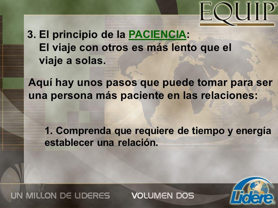 3. El principio de la PACIENCIA: