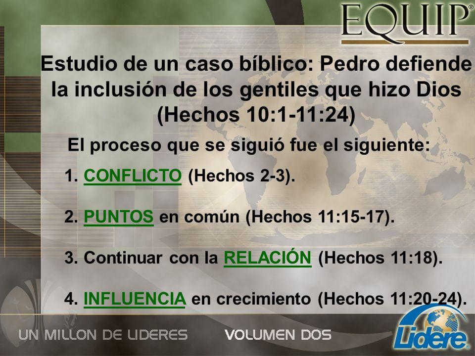 Estudio de un caso bíblico: Pedro defiende la inclusión de los gentiles que hizo Dios (Hechos 10:1-11:24)
