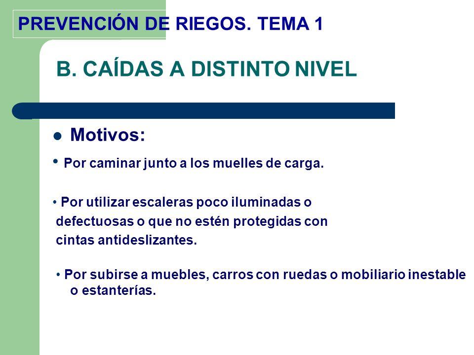 B. CAÍDAS A DISTINTO NIVEL