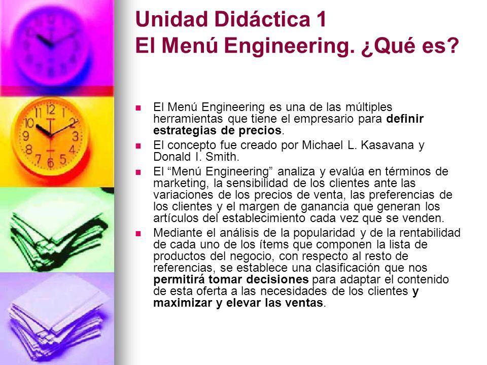 Unidad Didáctica 1 El Menú Engineering. ¿Qué es