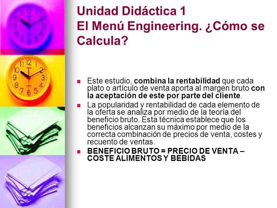 Unidad Didáctica 1 El Menú Engineering. ¿Cómo se Calcula