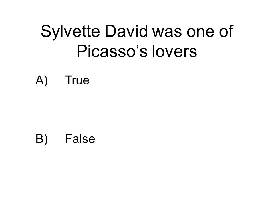 Sylvette David was one of Picasso's lovers