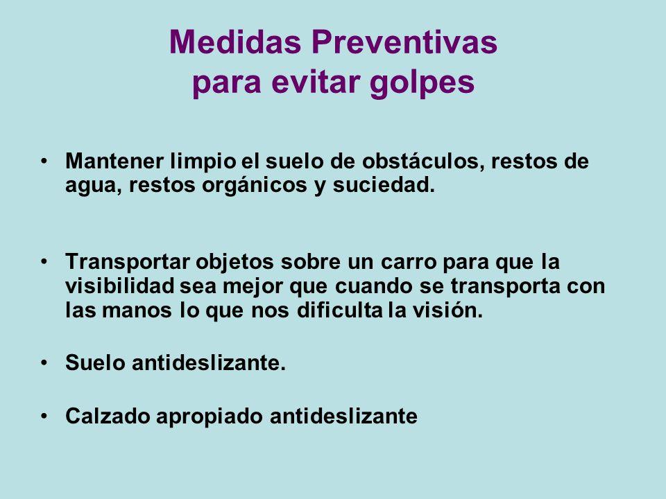 Medidas Preventivas para evitar golpes