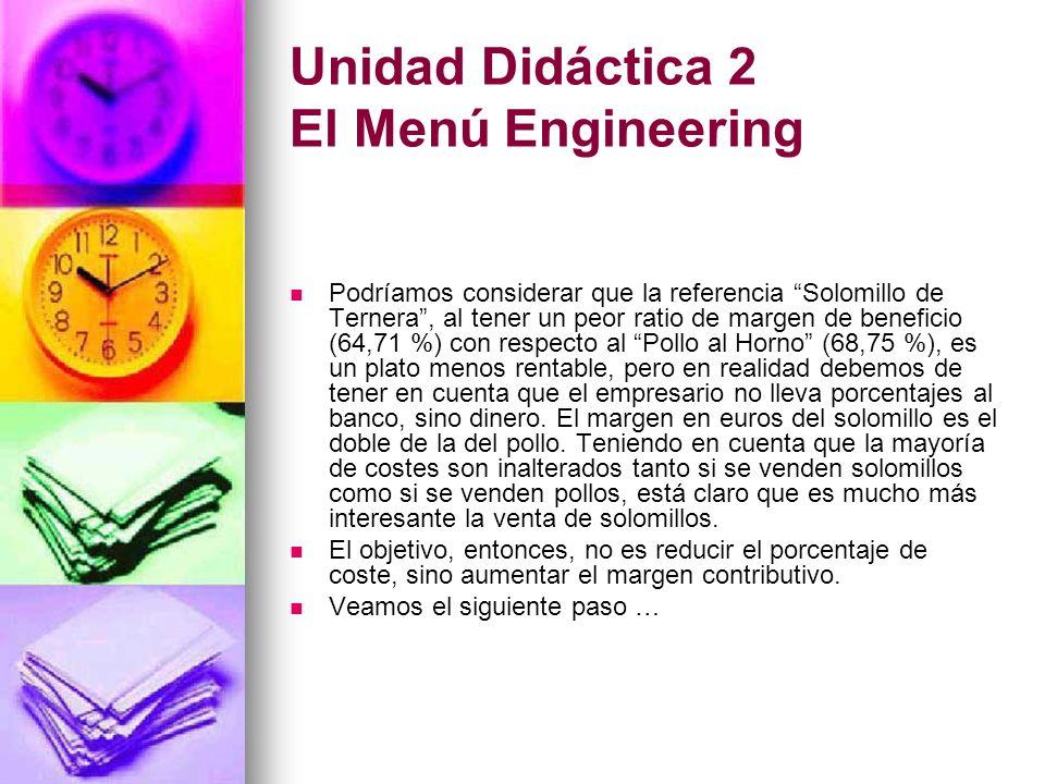 Unidad Didáctica 2 El Menú Engineering