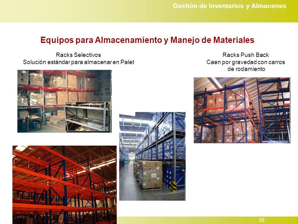 Equipos para Almacenamiento y Manejo de Materiales