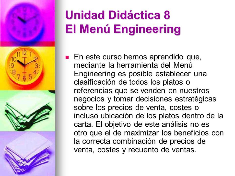 Unidad Didáctica 8 El Menú Engineering