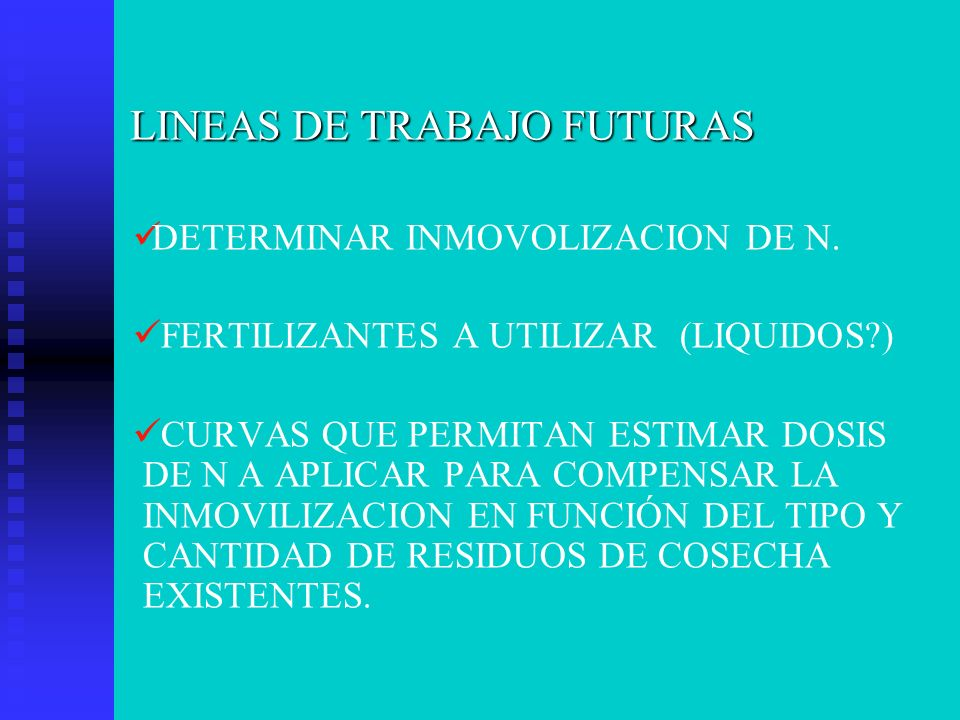 LINEAS DE TRABAJO FUTURAS