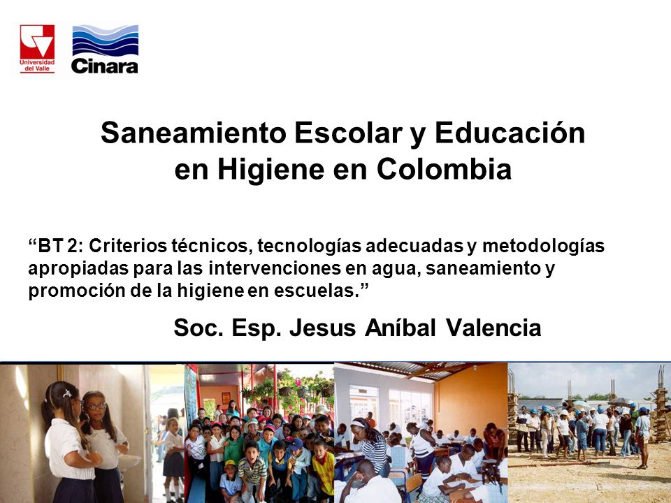 Saneamiento Escolar y Educación en Higiene en Colombia