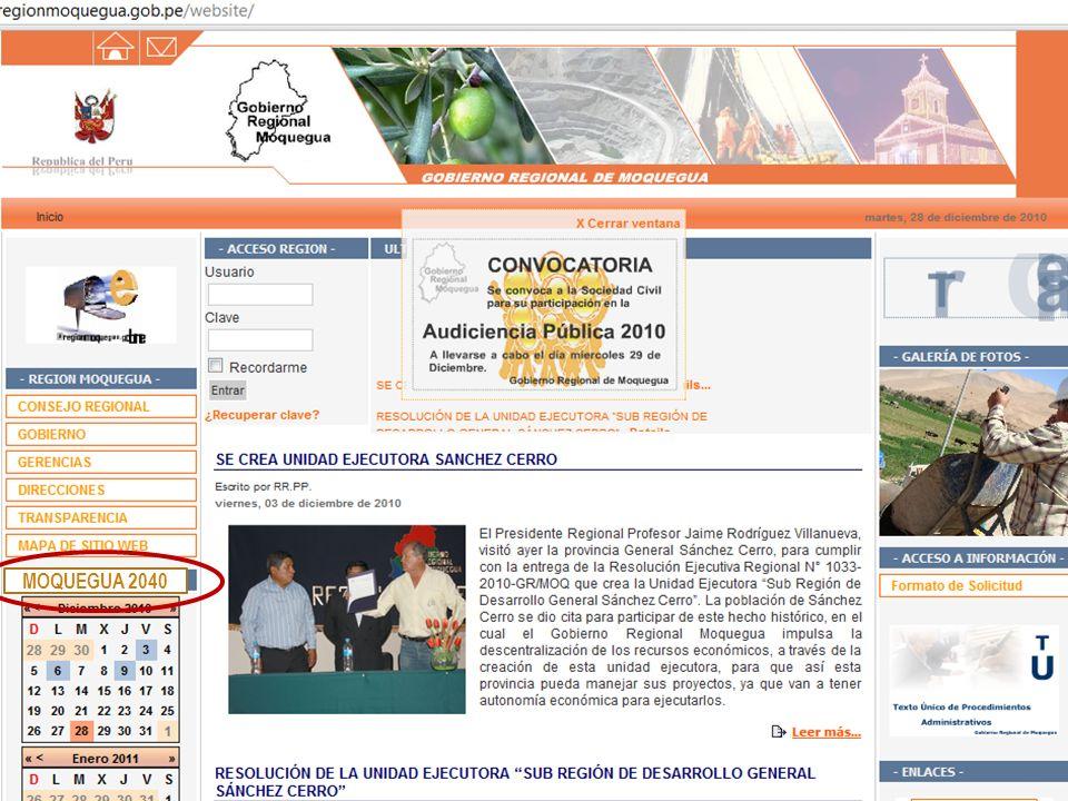 MOQUEGUA 2040 Rubén Gómez Sánchez S. Director Proyecto PERÚ 2040 Rev. 01, 28/12/10