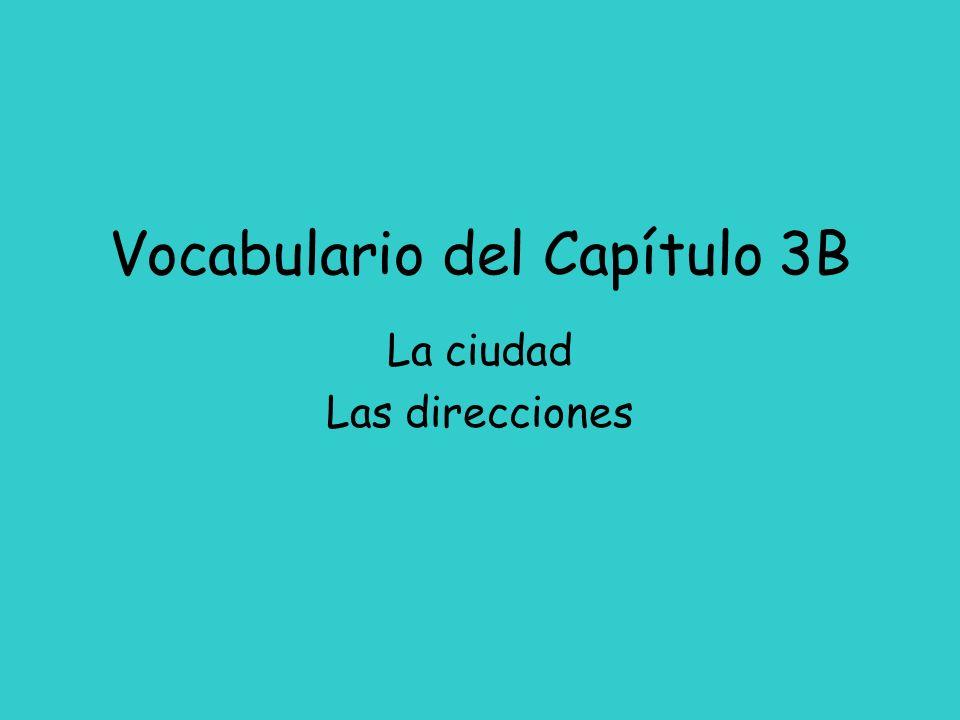 Vocabulario del Capítulo 3B