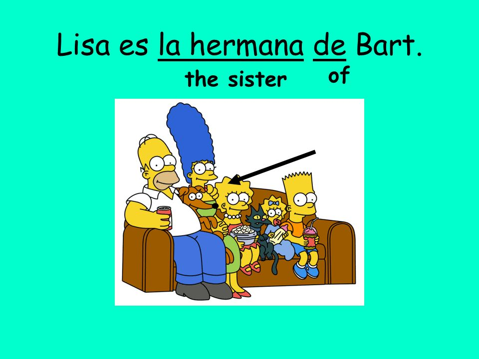 Lisa es la hermana de Bart.