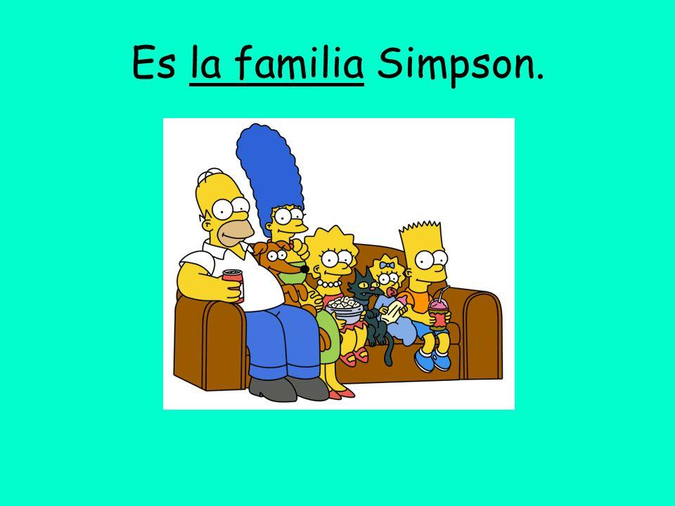 Es la familia Simpson.