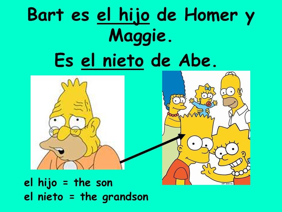 Bart es el hijo de Homer y Maggie.