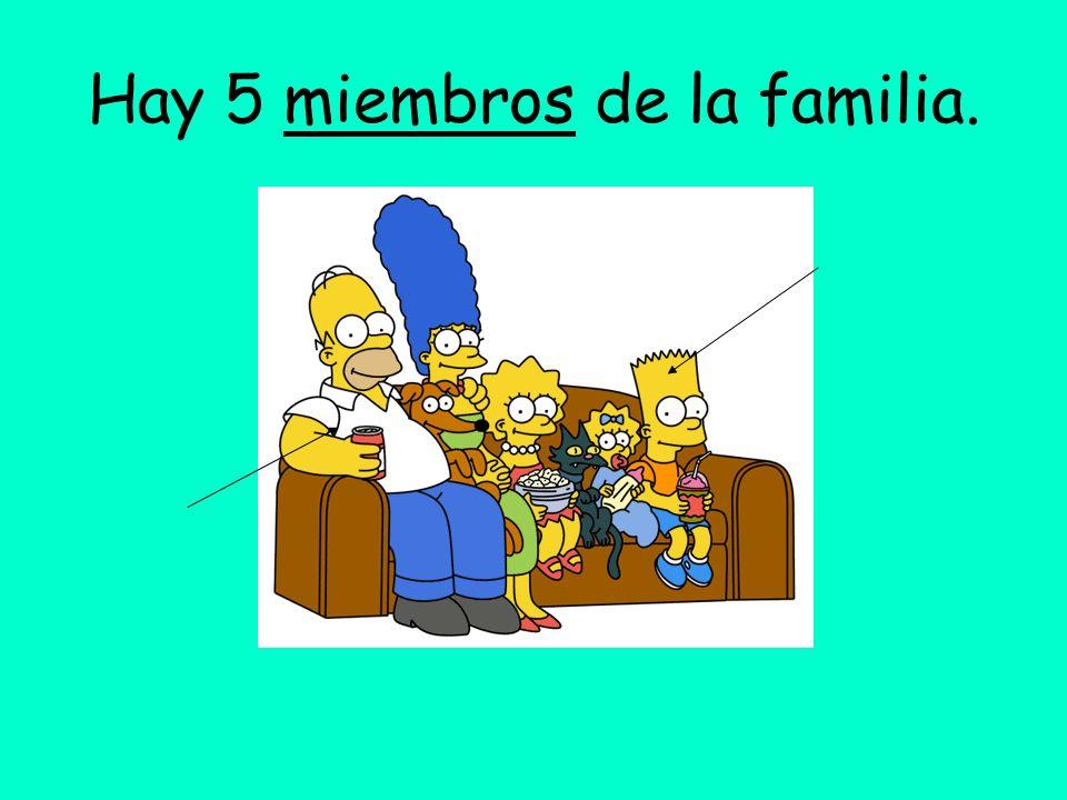 Hay 5 miembros de la familia.