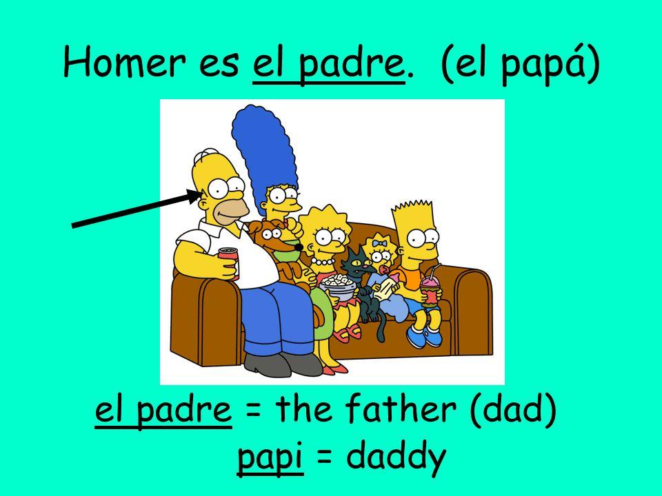 Homer es el padre. (el papá)