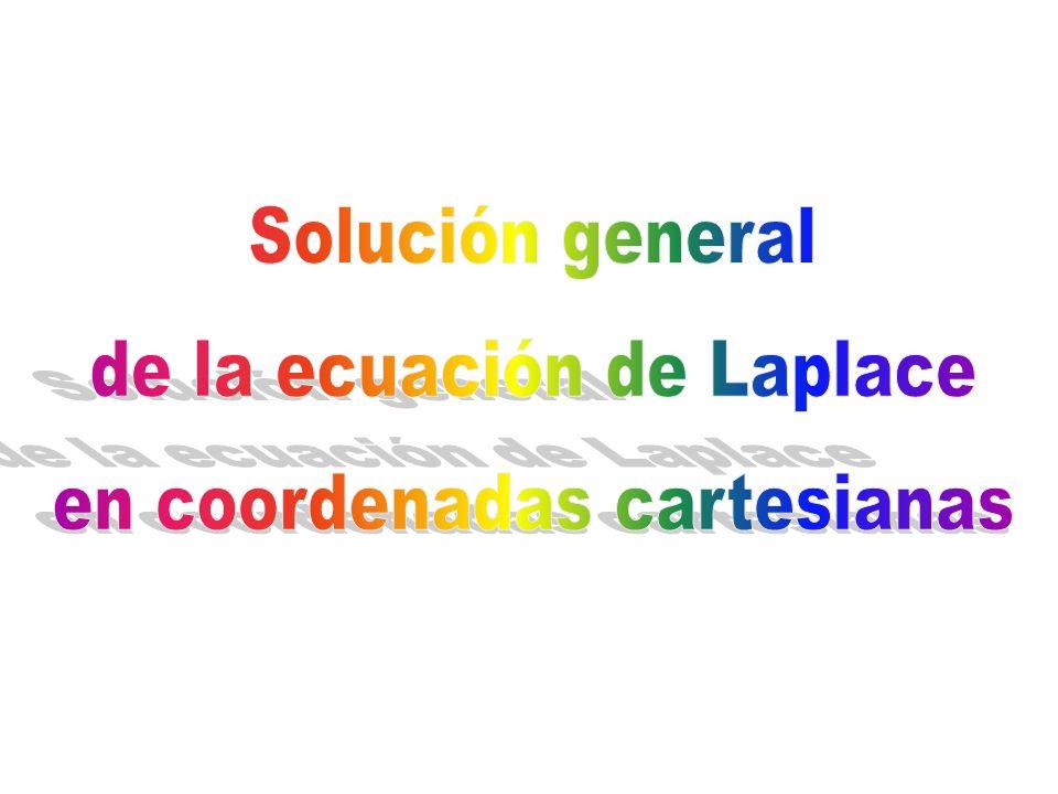 de la ecuación de Laplace en coordenadas cartesianas