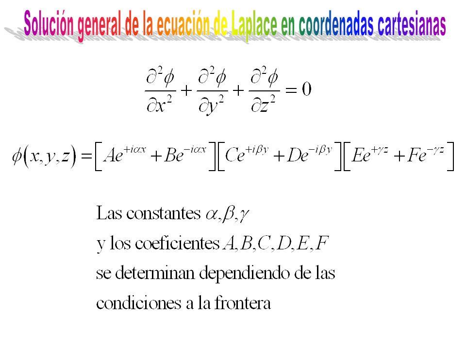 Solución general de la ecuación de Laplace en coordenadas cartesianas