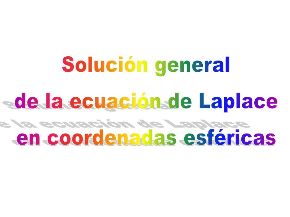 de la ecuación de Laplace en coordenadas esféricas