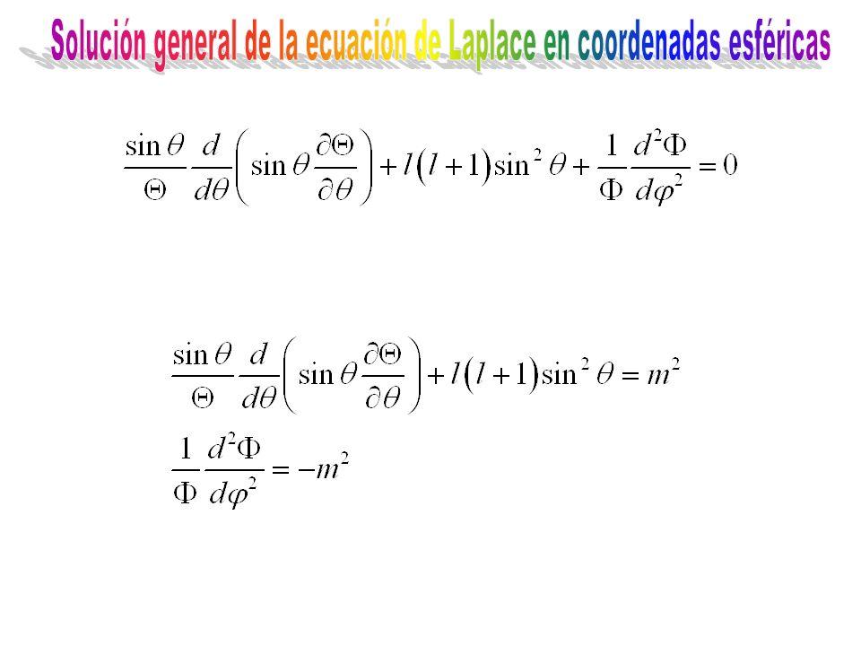Solución general de la ecuación de Laplace en coordenadas esféricas