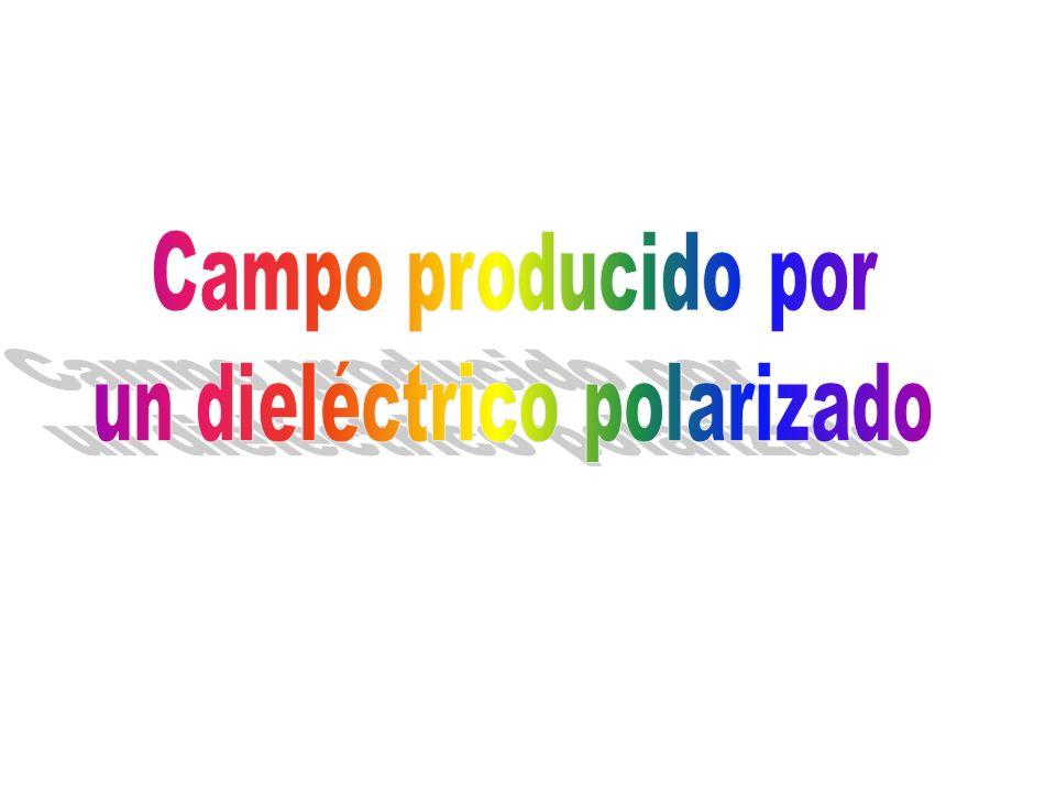 un dieléctrico polarizado