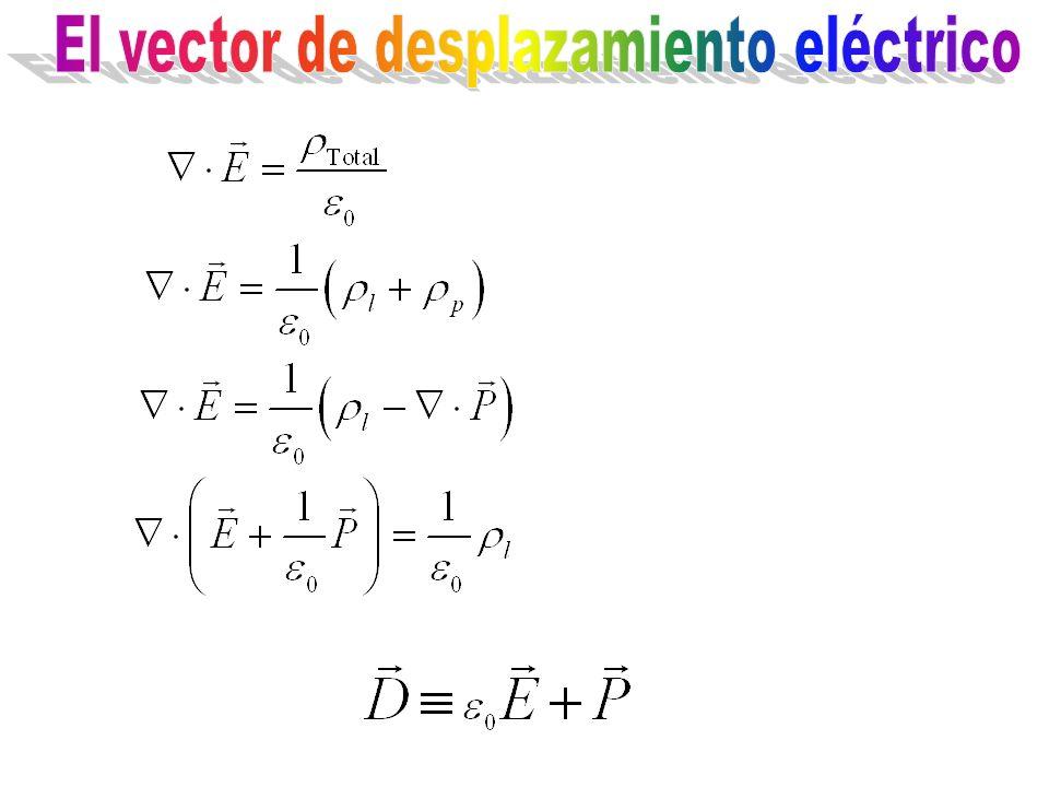 El vector de desplazamiento eléctrico