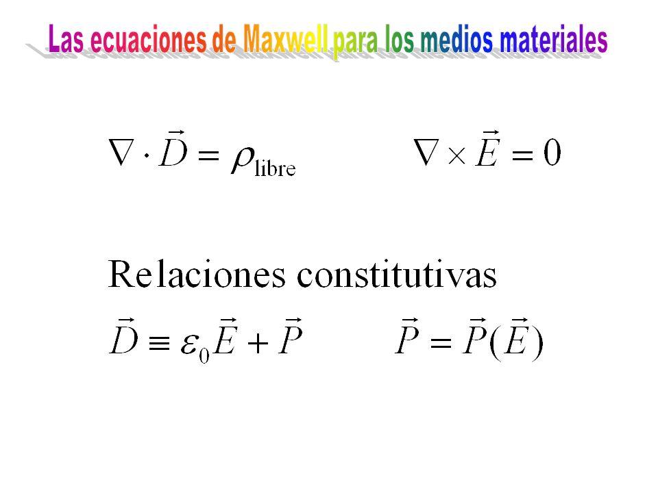 Las ecuaciones de Maxwell para los medios materiales