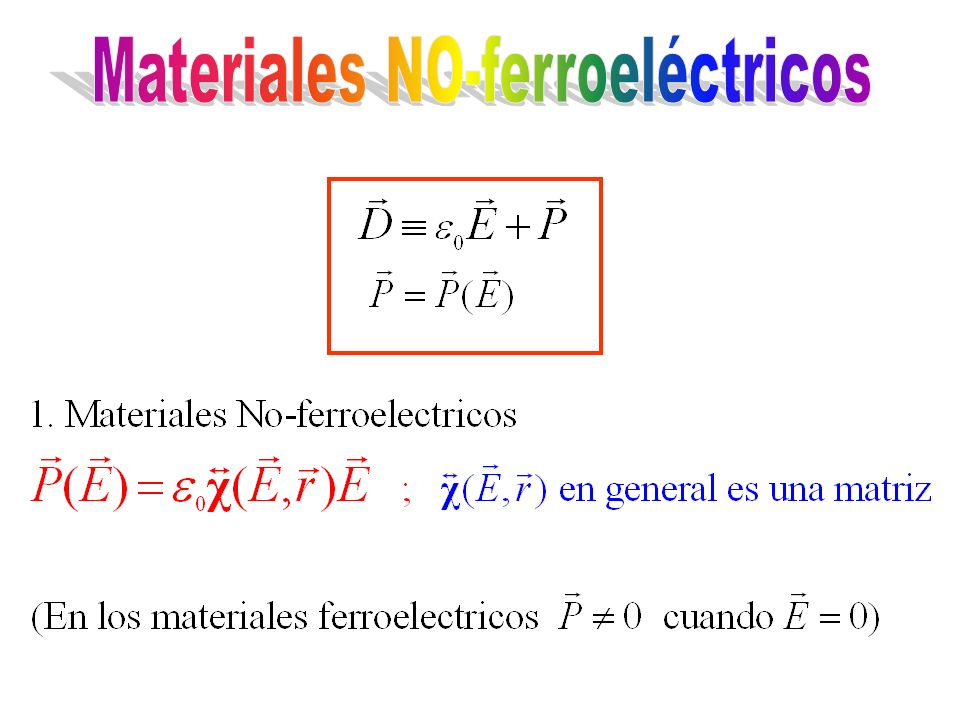 Materiales NO-ferroeléctricos