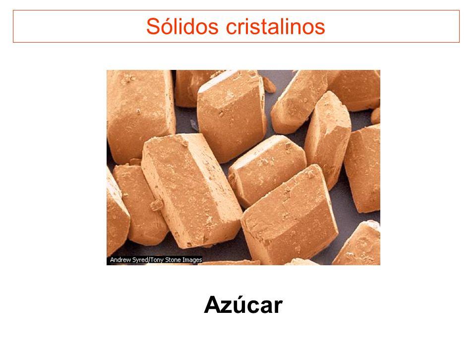 Sólidos cristalinos Azúcar