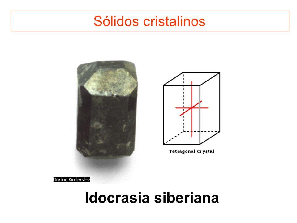 Sólidos cristalinos Idocrasia siberiana