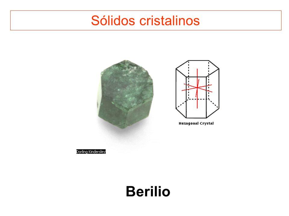 Sólidos cristalinos Berilio