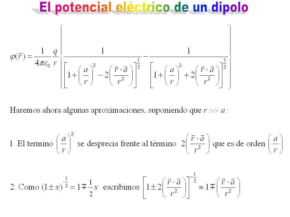 El potencial eléctrico de un dipolo