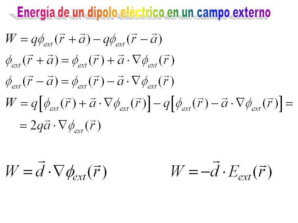 Energía de un dipolo eléctrico en un campo externo
