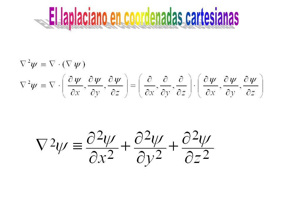 El laplaciano en coordenadas cartesianas