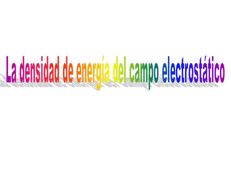La densidad de energía del campo electrostático