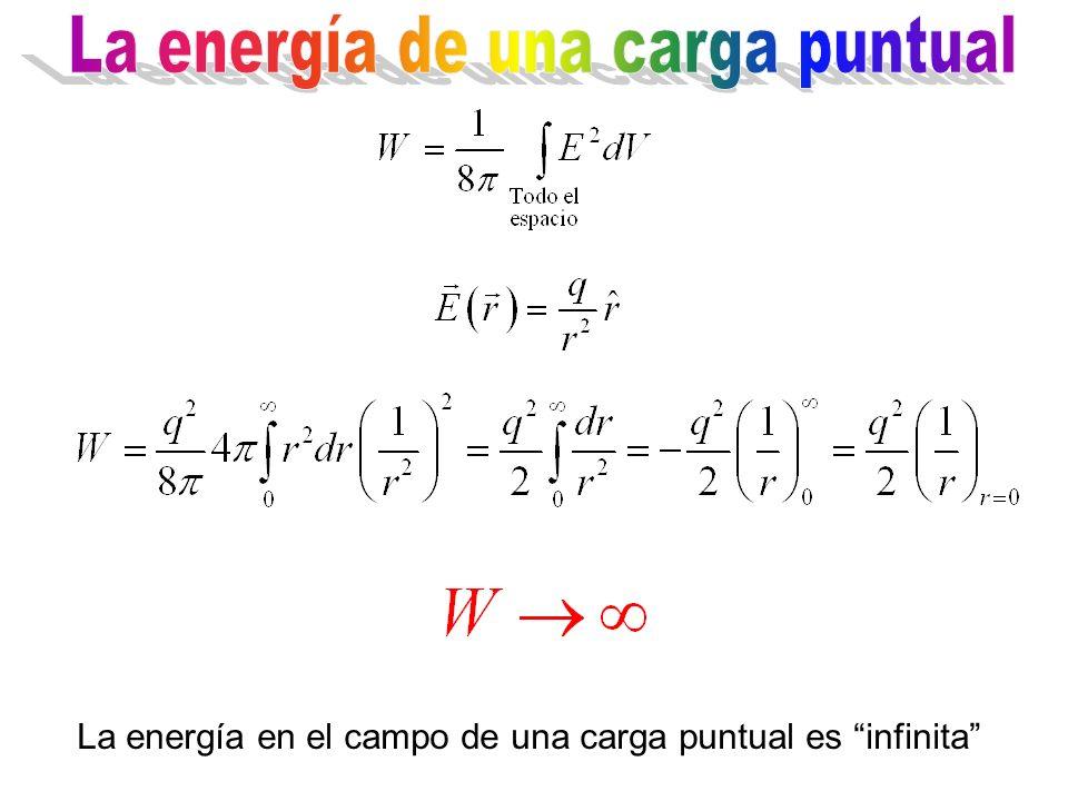 La energía de una carga puntual