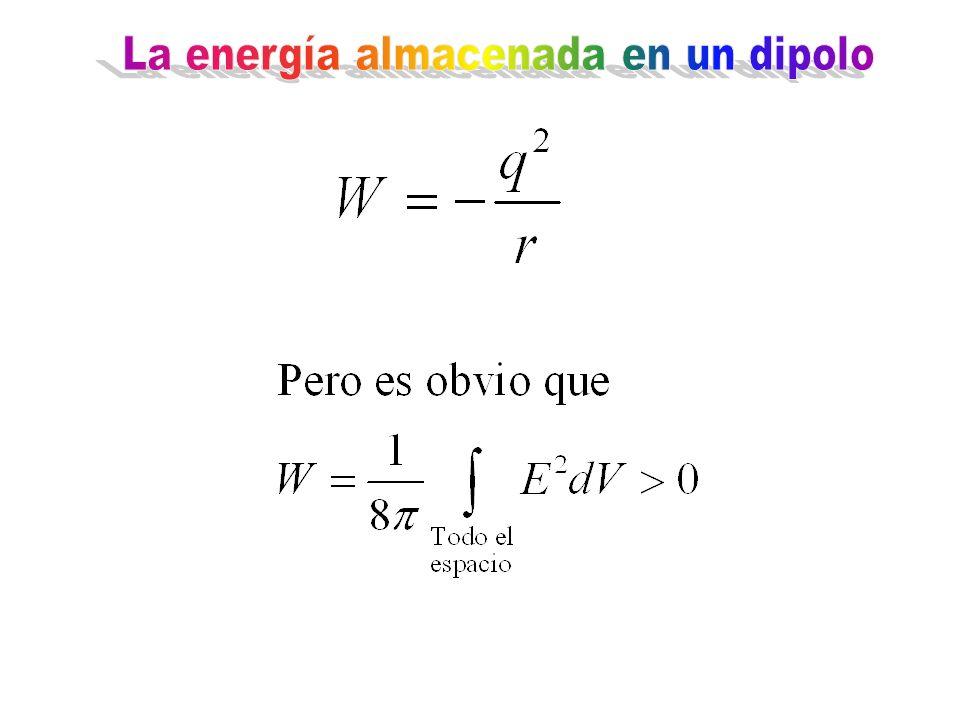 La energía almacenada en un dipolo