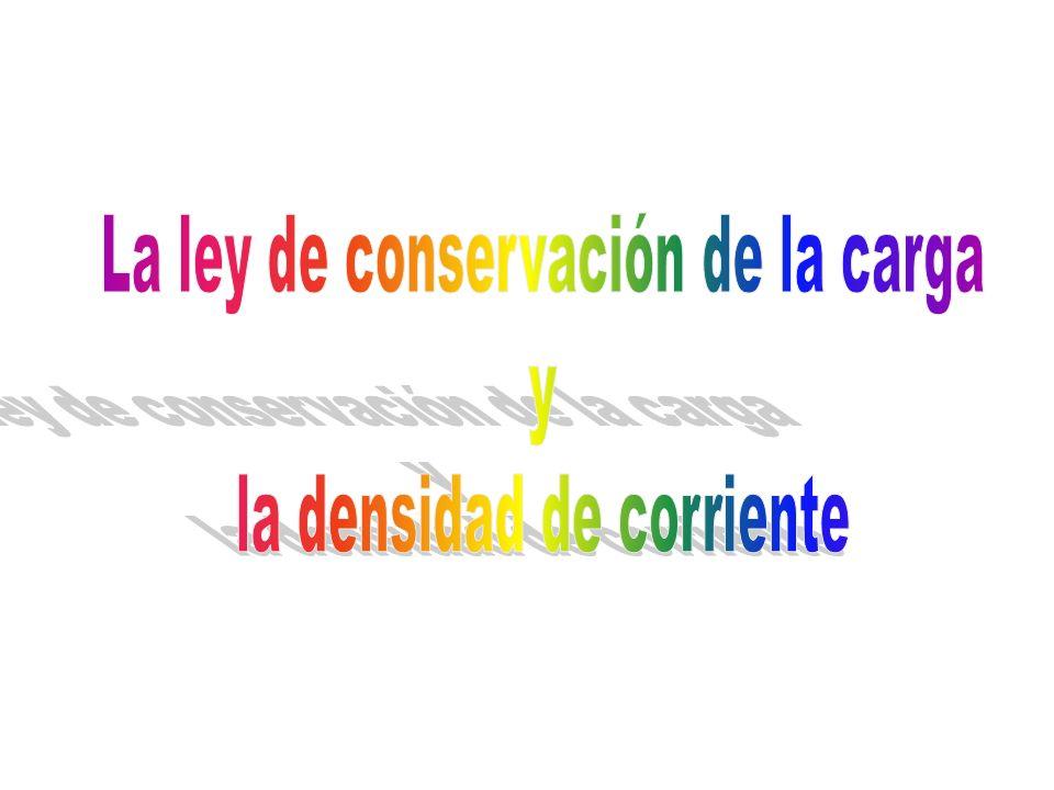La ley de conservación de la carga la densidad de corriente