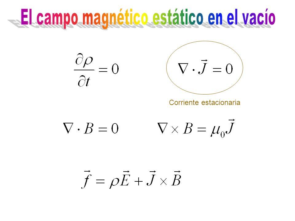 El campo magnético estático en el vacío