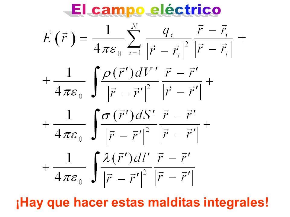 El campo eléctrico ¡Hay que hacer estas malditas integrales!